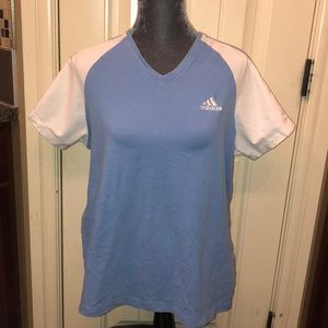 Adidas work out top v neck size XL women's